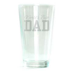 Pub Glass - 16oz - World's Best Dad