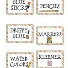 Classroom Supply Labels that can used to label bins for organization or to help students organize their supplies into piles on that first day of sc... label bin, classroom suppli, color classroom, suppli label
