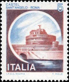 Castel sant'Angelo, a Roma Chateau Saint Ange, Charles Viii, Statues, Saint Michel, Interesting Buildings, Roman Empire, Postage Stamps, Poster, Stamps