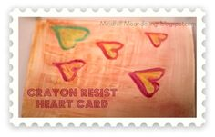 Crayon Resist Heart Card | 3 Simple Valentine Heart Card Ideas | Valentines Day Crafts Painting activities