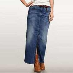 Long denim skirts for juniors – Modern skirts blog for you
