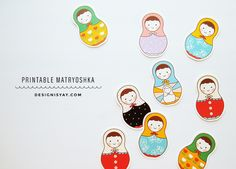 Printable Dolls From Design is Yay