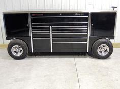 Snap On KRLR1022 Black TUV Pit Box Iron Head Tool Wagon Tool Box - WE SHIP   eBay