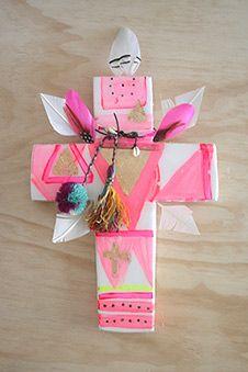 Embellished handcrafted crosses by Jai Vasicek