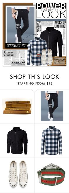 Power look for him by angel-a-m on Polyvore featuring Converse, Gucci, men's fashion, menswear and twinkledeals