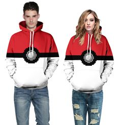Pocket monster Pokemon Go pokeball hoodie Couples clothes sportswear long sleeve…