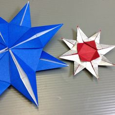 Easy Origami Christmas Eight Pointed Star Tutorial