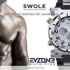 #Swole o'clock #men's #watch,  View more on the LINK: 	http://www.zeppy.io/product/gb/2/141950019588/