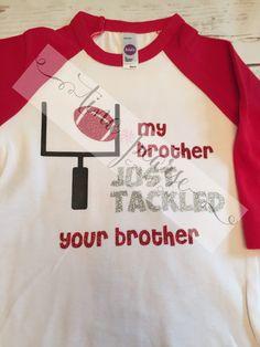 Little Sister Football Raglan, Little Sister Football Shirt by TinaPearseCreations on Etsy https://www.etsy.com/listing/245659662/little-sister-football-raglan-little