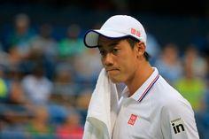 テニス、シティ・オープン(Citi Open 2014)男子シングルスの準々決勝に臨む錦織圭(Kei Nishikori、2014年8月1日撮影)。(c)AFP=時事/AFPBB News