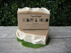 Natural Mulberry & Mango soap by CIAOCIAOatChiangmai on Etsy, ฿120.00