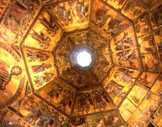 Inside of The Baptistery of St. John. Piazza del Duomo Firenze