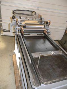 $14,500.00 seller refurbished Vandercook #4 cylinder proof press