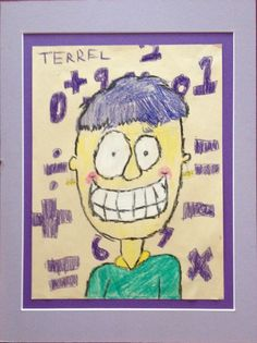 Caricature Portrait - 6th grader art work - Crayon Drawing