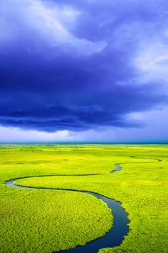 Storm Over the Okavango River Delta