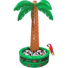 Inflatable Drinks Cooler (jumbo, 6ft) - Palm Tree