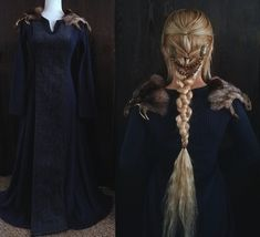 Medival / Viking Image of Royal blue - Viking gown Water Pollution Problems: A Real Issue Water poll Viking Garb, Viking Dress, Viking Queen, Viking Woman, Ivar Vikings, Viking Clothing, Gypsy Clothing, Renaissance Clothing, Royal Clothing