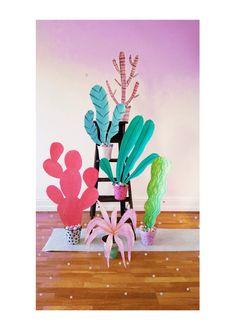 Set design, set, installation, window display, visual merchandising, plants, illustrations, props,