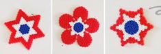 Lag fin pynt til mai av plastperler Diy And Crafts, Crafts For Kids, Arts And Crafts, 17. Mai, Holidays And Events, Perler Beads, Fourth Of July, Art Projects, Crochet Patterns