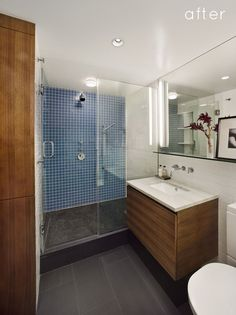 More modern bathrooms