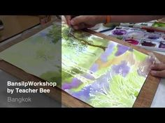 Painting Forest in watercolor By Teacher Bee - YouTube