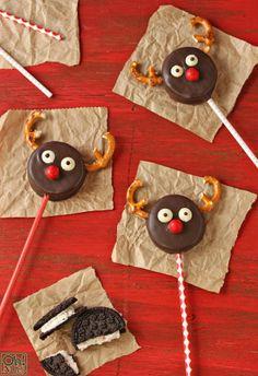 Reindeer Oreo Cookie Pops