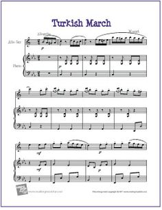 Turkish March (Mozart) | Free Sheet for Alto Saxophone - http://www.makingmusicfun.net/htm/f_printit_free_printable_sheet_music/turkish-march-alto-sax.htm
