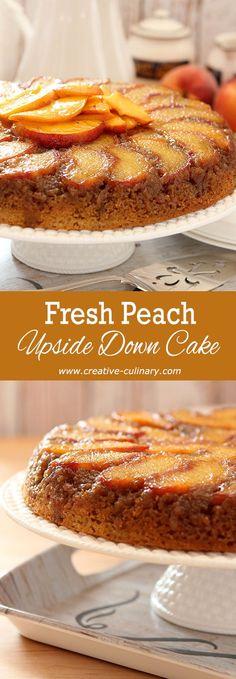 Fresh Peach and Bourbon Upside Down Cake