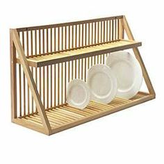 Nice Dish Rack For Over Sink Wall Mounted Wooden Plate Large