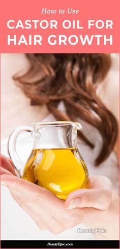 How to Use Castor oil for Hair Growth Castor Oil For Hair Growth, Hair Mask For Growth, Hair Growth Shampoo, Vitamins For Hair Growth, Hair Growth Treatment, Hair Vitamins, Hair Growth Oil, Natural Hair Growth Remedies, Hair Remedies