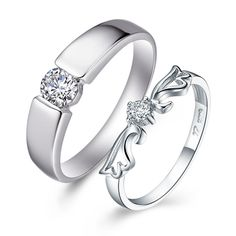 Find More Rings Information about New Romantic Couple Rings For Lovers Korean Style CZ Diamond Joyas De Plate Anniversary Gift Bague Femme Wholesale Ulove J044,High Quality couple rings,China ring style Suppliers, Cheap ring for from ULOVE No.2 Fashion Jewelry Store  on Aliexpress.com