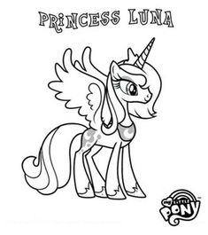 My Little Pony Coloring Pages Luna Mylittleponycoloring Lunacoloringpages