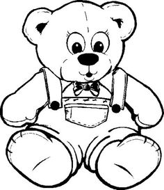 Cute Teddy Bear Wearing Clothes Coloring Pages