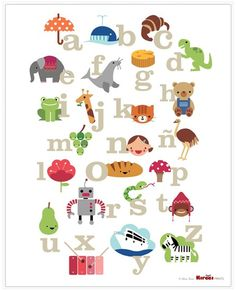 alphabet with pics typography