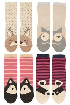 Buy Animal Face Socks Four Pack from the Next UK online shop