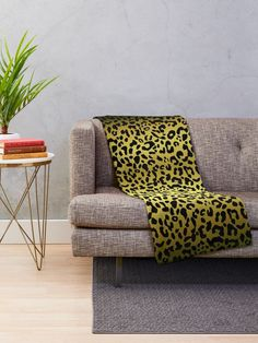 'Gold and black metallic leopard spots, animal fur print' Throw Blanket by cool-shirts Leopard Decor, Red Leopard, Leopard Spots, Fleece Blankets, Fleece Throw, Throw Blankets, Spotted Animals, Animal Fur, Round Pillow