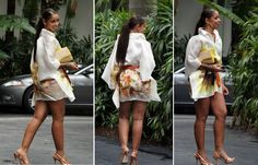 Thick Mya Harrison 2014 | If anything her body is even nicer. Look at those luscious thighs. She ... Mya Harrison, My Girl, Thighs, High Waisted Skirt, Curly, Hairdos, Elegant, Hot, Beauty