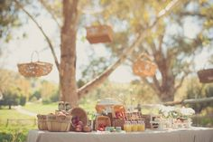 Farm style sweets table