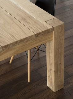 Items similar to Solid oak dining table. Modern design on Etsy Solid Oak Dining Table, Wooden Dining Tables, Rustic Table, Dining Room Table, Dinner Tables Furniture, Table Maker, Deck Table, Wooden Garden Benches, Timber Table