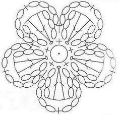Crochet flower graphic
