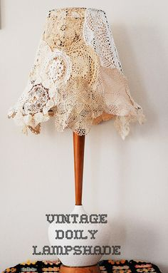 Vintage Doily Lampshade DIY by maize hutton, via Flickr