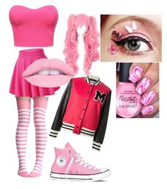 """Pink"" by aya-jackson on Polyvore featuring Converse"