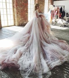 Blushing Beauty - Blush rose with a diamond ring, lovely. dreamy blush wedding gown Zuhair Murad Haute Couture Fall/Winter Blush Bedding Zimmermann Fall 2016 You ma Bridal Gowns, Wedding Gowns, Tulle Wedding, Versace Wedding Dress, Tent Wedding, Prom Dresses, Formal Dresses, Dress Prom, Tulle Dress