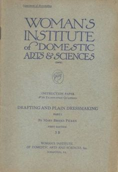 1910s Woman's Institute Book 3B Drafting and Plain Dressmaking 1915 First Ed | eBay