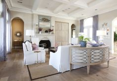 Coffered ceiling + arched doorways | Dodson & Daughter ID