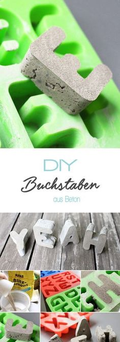 Do it yourself: Betonbuchstaben leicht selbst machen Dani von Gingered Things z… Do it yourself: Easily make concrete letters yourself Dani from Gingered Things shows. Crafts For Teens, Diy For Kids, Diy And Crafts, Concrete Crafts, Concrete Art, Creative Gifts, Diy Beauty, Diy Art, Homemade