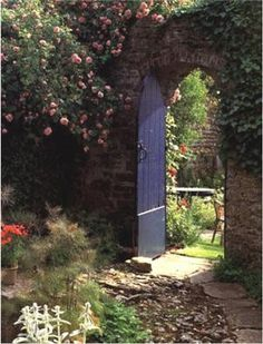 looking through the garden gate | This is how I image the Secret Garden entrance to be!!