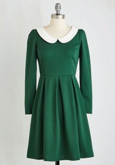 Record Store Date Dress in Forest