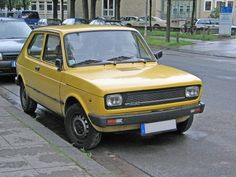 Yellow Fiat 127 my second car