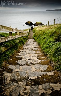 picture of steps on the antrim coast, northern ireland